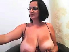 Milf With Glasses Shows Her Big Boobs Hd Porn F4 Xhamster