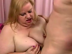 Fat Mom Is A Horny Cocksucker For Him