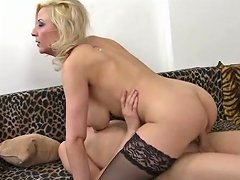 Mature Mouth And Titties Excite His Young Dick To Fuck