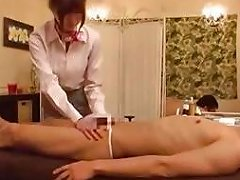 Masseuse Getting Her Nipples Sucked Pussy Fingered On The Massage Bed