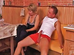 Mature Mother And The Son's Friend Have A Good Time On