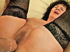 Immense Brunette Bbw Gets Her Fat Hairy Pussy Fingered By Kinky Uncle