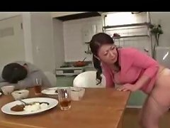 Busty Milf Fingered Giving Blowjob Fucked From Behind In The Dining Room