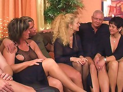 Mature Hardcore Orgy Filled With Fucking And Sucking